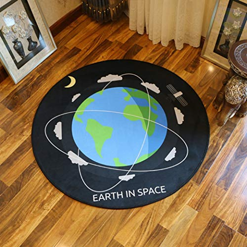 Universal Style Carpets Cartoon Kids Rugs Computer Chair Rugs Round Area Mats for Bedroom Anti- Skid Carpets (Rug Area Rafael)