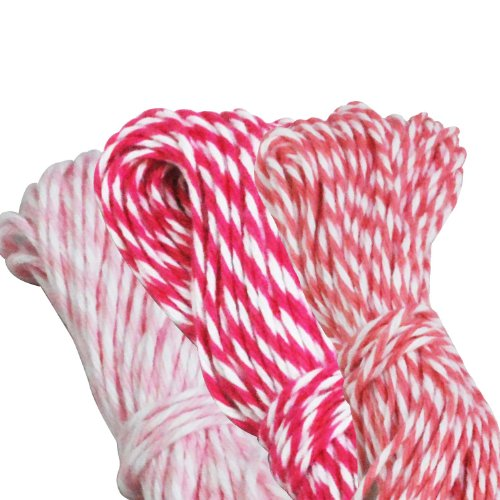 er's Twine Roll, Pink Collection, 15-Yard, Baby Pink/Bubblegum/Fuchsia, Set of 3 (Baker Striped Tie)