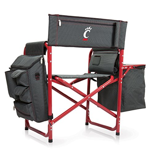 NCAA University of Cincinnati Digital Print Fusion Chair, Dark Grey/Red, One Size by PICNIC TIME