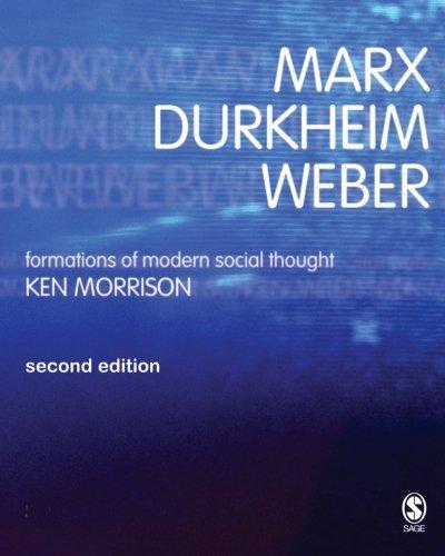 Marx, Durkheim, Weber: Formations of Modern Social Thought