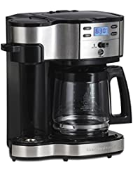 Hamilton Beach (49980A) Single Serve Coffee Maker and Coffee Pot Maker, Programmable, Stainless Steel