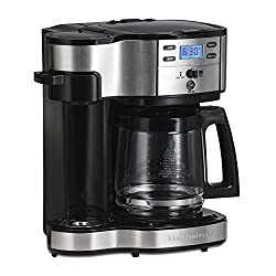 Hamilton Beach (49980a) Single Serve Coffee Maker & Coffee Pot Maker, Programmable, Stainless Steel