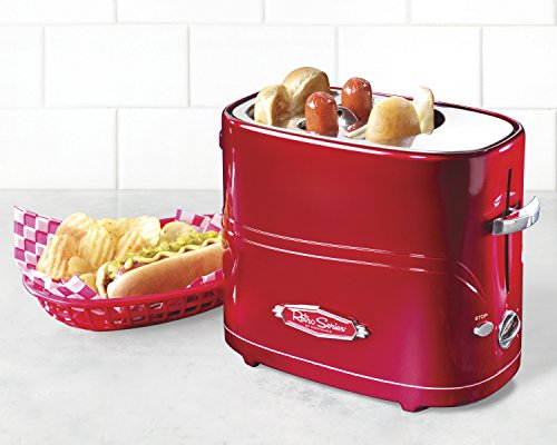 Nostalgia-HDT600RETRORED-Retro-Series-Pop-Up-Hot-Dog-Toaster