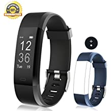 Vigorun Fitness Tracker Heart Rate Monitor, Sport Smart Wristband IP67 Waterproof Activity Tracker with Pedometer Step Distance Counter Calorie Burned and Sleep Monitor for Kids Women Men
