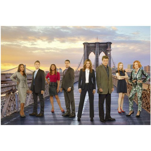 Castle Cast 8 inch x 10 inch photo Nathan Fillion Stana Katic Susan Sullivan standing together