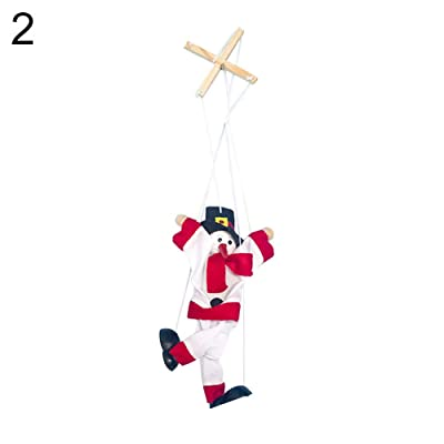 856store-Non-toxic and Durable Kids Toy ,Christmas Santa Claus Puppet Marionette Doll Kids Children Toy Xmas Decoration - 2: Home & Kitchen