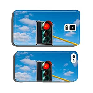 Traffic lights against the sky is lit red cell phone cover case iPhone5
