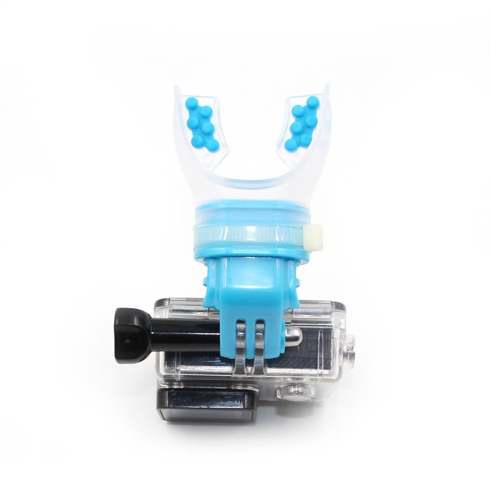TELESIN Surfing Skating Shoot Dummy Bite Mouthpiece Holder Mouth Mount Adapter for GoPro Hero 6/5 Black,Hero 5 Session,Hero 4 Session, 4/3+/3/2/1 Camera,SJ Cam,Xiaomi Yi (Blue) GP-MTM-001