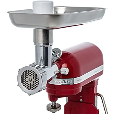 Jupiter Metal Food Grinder Attachment for KitchenAid Stand Mixers, 478100