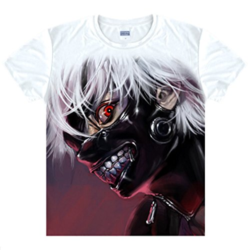 Bromeo Tokyo Ghoul Anime Ropa Mangas Cortas Tee T-shirt Camisetas 66
