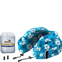 Cabeau Evolution Memory Foam Travel Pillow - The Best Neck Pillow with 360 Head & Neck Support, Blue Tropic