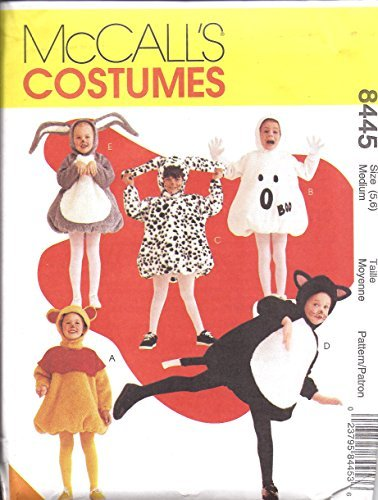 Child's Pop Belly Costume Sewing Pattern McCalls MP319 or 8445 Size 5,6 Poo Bear, Bunny, Ghost, Cat, Dog -