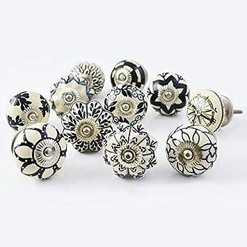 Small Ceramic Cabinet Drawer Knob  3//4 inch White Lot 2