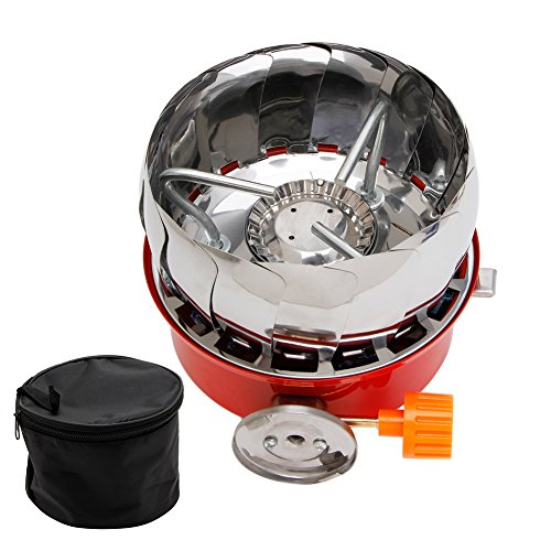 ULKEME Portable Outdoor Camping Stove Windscreen Gas Cooking BBQ Burner Gas Stove 1Pc