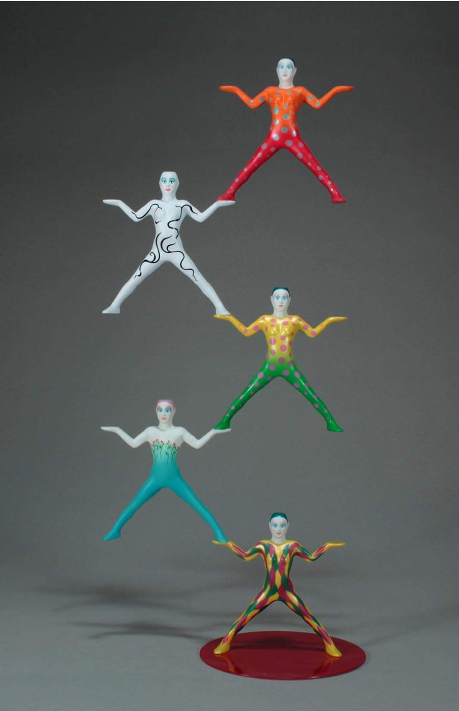 MAGNETIC ACROBATS EQUILIQUE 2 FIGURE SET Interactive Sculpture from JOHN PERRY
