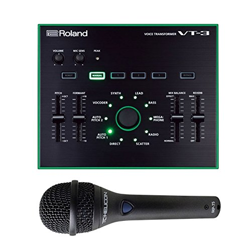 Roland AIRA VT-3 Voice Transformer with TC-Helicon MP-75 Handheld Dynamic Vocal Microphone - Roland Tb 3