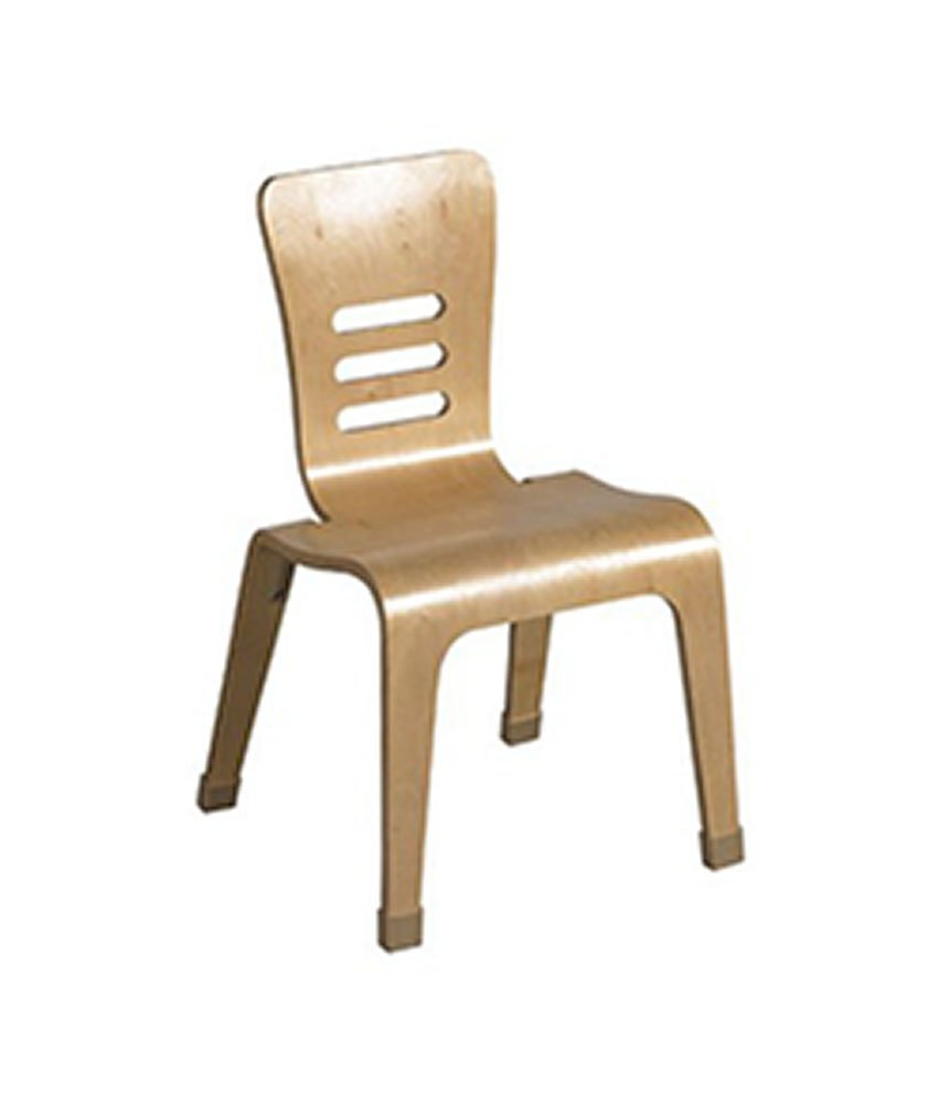 ECR4Kids 14'' Bentwood School Chair for Students, Natural (2-Pack)