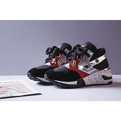 et Sport à WSXY Plateformes Femme pour color Chaussures Conseil de élastiques de Sneaker Bottes A1411 Souliers Lacets Chaussures KJJDE Course Shoes T4gqnxwA
