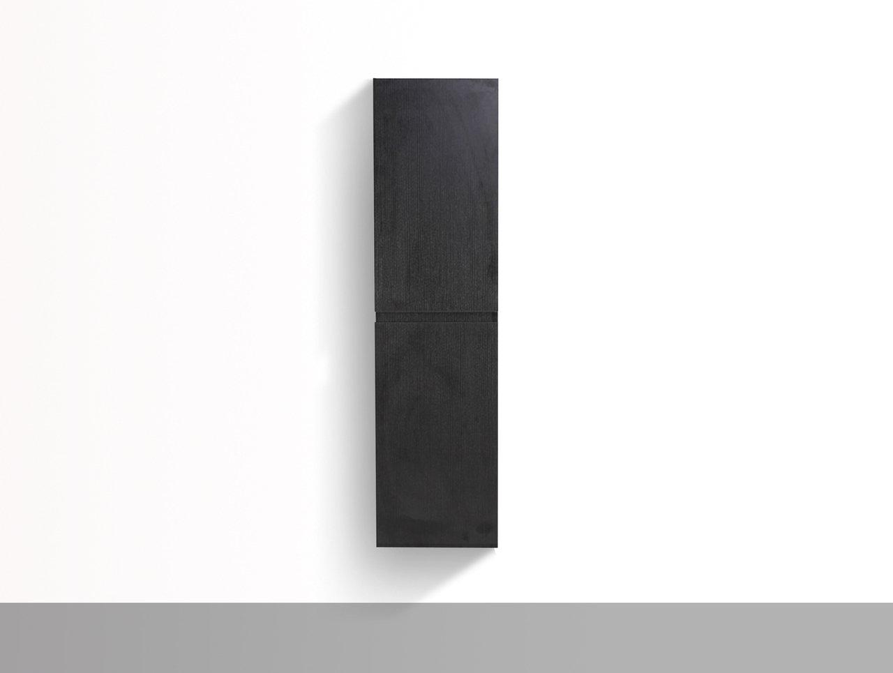 Modern Bathroom Linen Side Cabinet with 2 Storage Areas (BLACK)