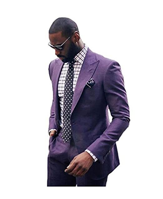 Mens Slim Fit Suits Notch Lapel Wedding Suits One Button Groom Tuxedos Prom Suits