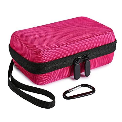 Faylapa Hard EVA Nylon Shockproof Travel Carrying Case Bag for HP Sprocket Portable Photo Printer ZIP Mobile Printer w/ZINK Zero Ink Printing Technology (Rose Red) (Pogo Photo)