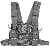 abcGoodefg® Radio Chest Harness| Chest Front Pack |Pouch Holster Vest Rig (Rescue Essentials) for Two Way Radio Walkie Talkie (Camouflage)