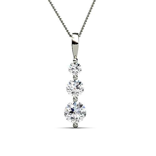 056f5fabf6d68a YOURDORA Damen Halskette Elegant Kette mit Anhänger Kristallen von SWAROVSKI  Weißgold überzogen  Amazon.de  Schmuck