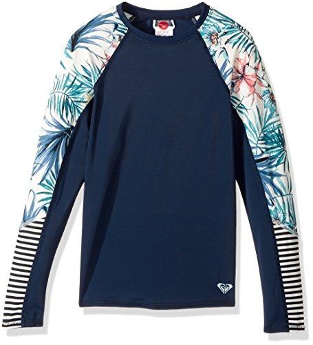 Roxy Big Girls' Blingbling Surf Fashion Rashguard, Marshmallow Belharra Flower, 12/L Roxy Apparel