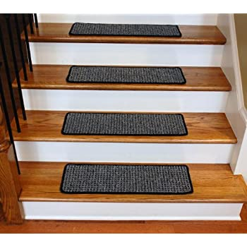 High Quality Washable Non Skid Carpet Stair Treads   Silvered Sky (13)