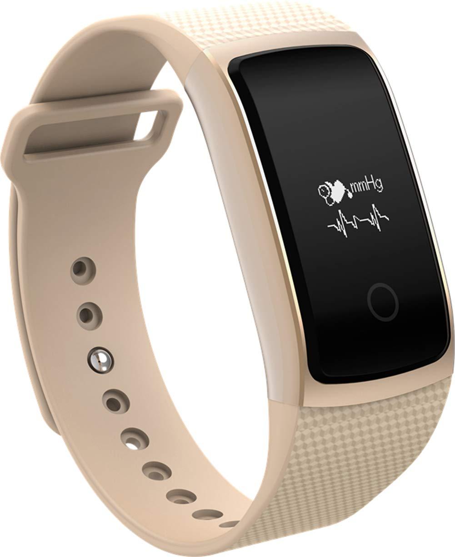 Marron  SBDYH Montre Intelligente à écran Tactile avec Moniteur de fréquence voiturediaque, podomètre, Fitness