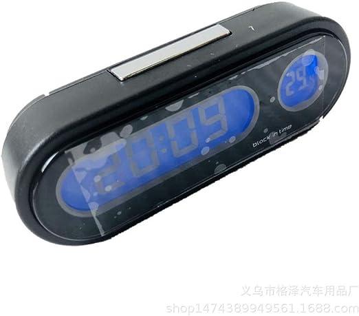 Termómetro de reloj electrónico para automóvil Termómetro para coche Termómetro digital de alto brillo Negro, como se muestra: Amazon.es: Amazon.es