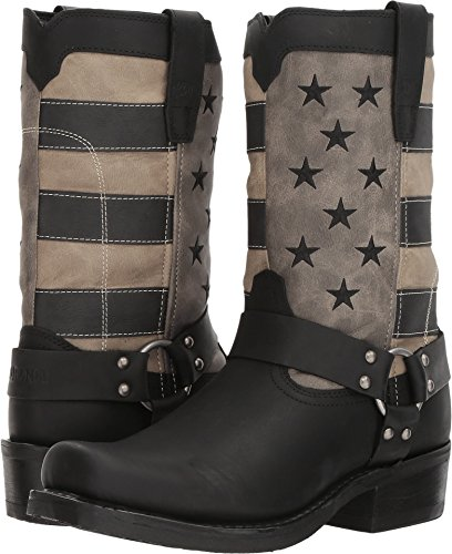 Durango Men's Patriotic Faded Flag Motorcycle Boot Square Toe Black 9 D