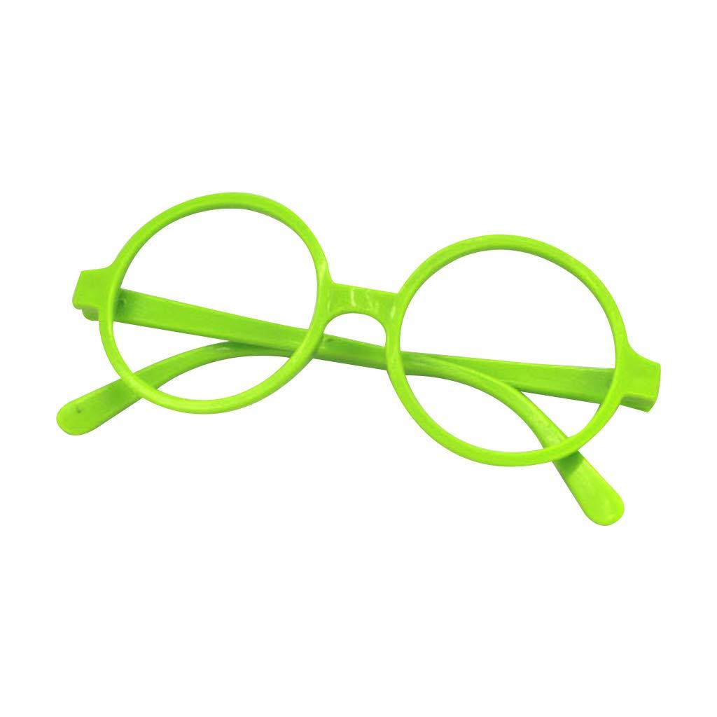 Retro Nerd Stil Niedlich Baby Runde Brille Rahmen ohne Gl/äser Candy Farbe Kunststoff Mutter Tochter Cosplay Party Kost/üm Eyewear 1 YFairy Brillenrahmen
