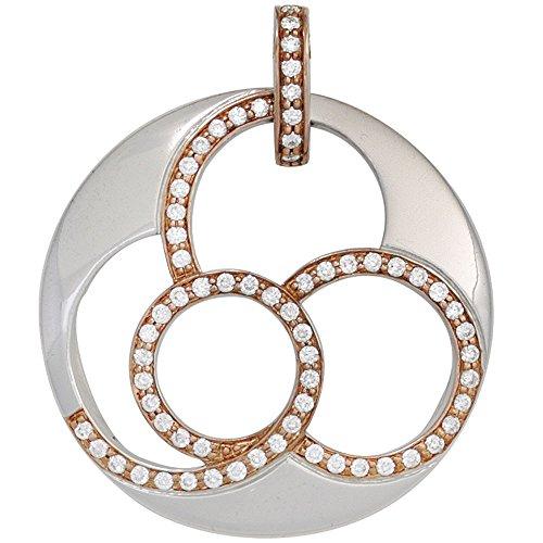 Anhänger rund 585 Gold Weißgold 66 Diamanten Brillanten 0,46ct. Goldanhänger