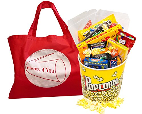 Plenty 4 You Old Fashion Movie Night Candy Gift , Movie Theater Boxed Candy Bundle