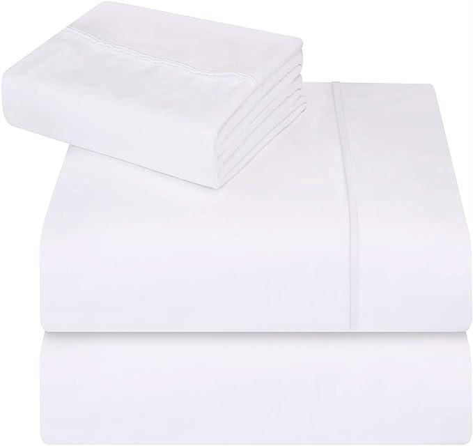 d6c4fb3162 Grigio, Matrimoniale Morbida Spazzolata in Microfibra antiriflesso  Resistente alle Macchie e alle Macchie Lenzuola Singole Utopia Bedding