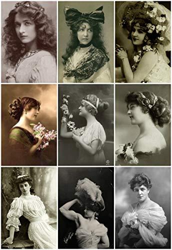 (Vintage Women Photo Collage #101 Collage Sheet)