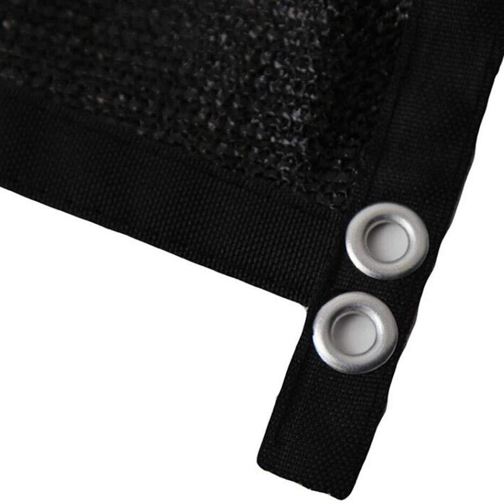 DHMHJH Tela de la Cortina Plegable al Libre Aire Libre al de etileno UV Redes de protección Transpirable (Color : Negro, Tamaño : 2x3m) bbaa40