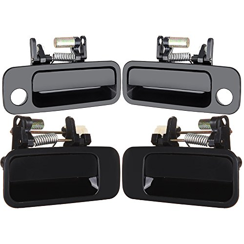 cciyu 69210-AA010 69240-AA010 Door Handles Exterior Outside Outer Front Rear Driver Passenger Side Replacement fit for 1997-2001 Toyota Camry Black(4pcs) ()