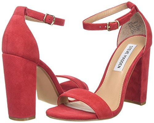 Madden Heels Sandal Open Carrson red toe Red 03001 Women''s Steve ZqYdHOO
