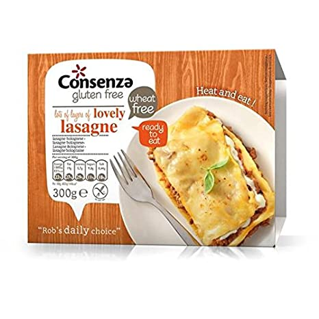 Cosenza Sin Gluten Lasaña Listo 300g de comidas: Amazon.es ...