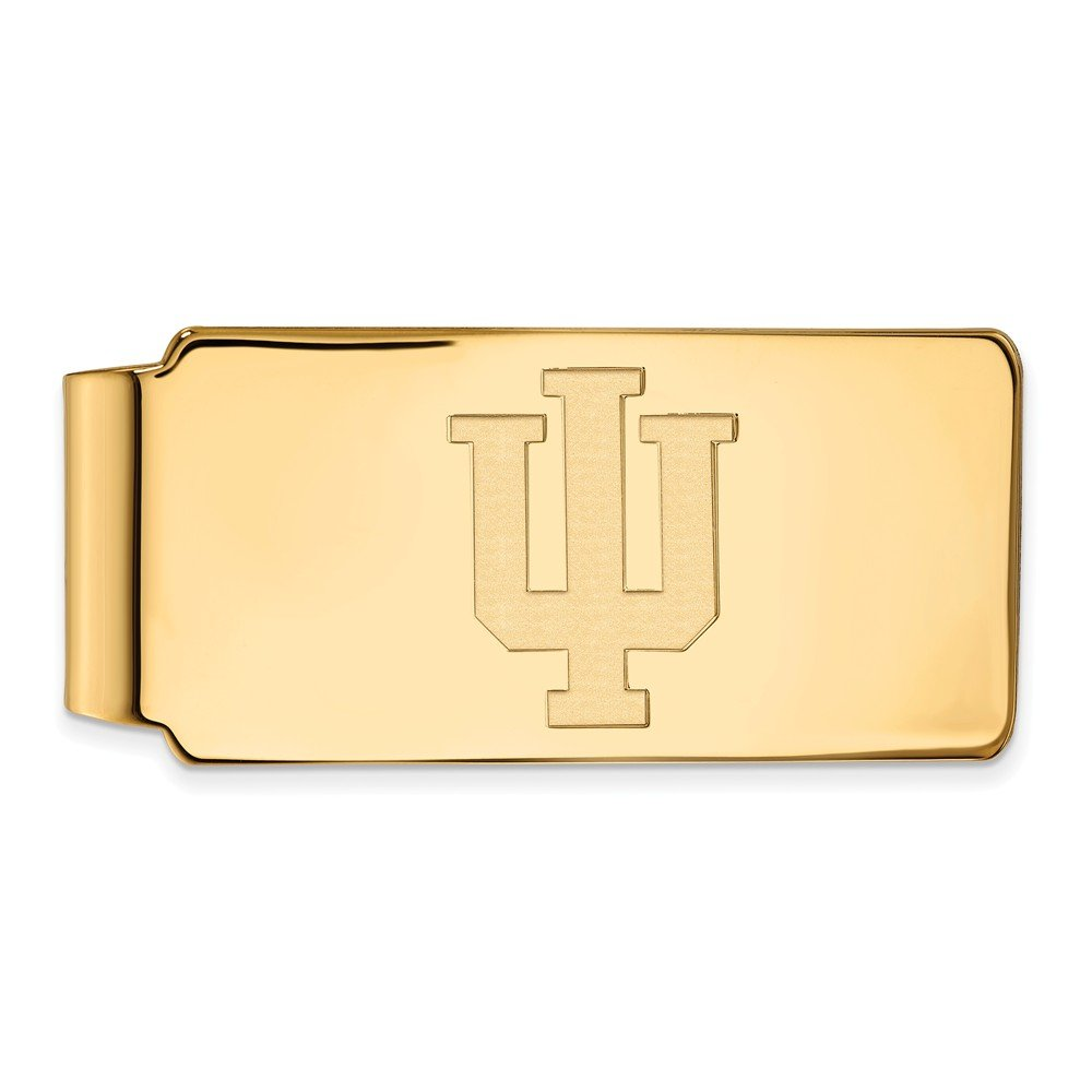 Jewel Tie 14k Yellow Gold Big Heavy Indiana University Money Clip 55mm x 26mm