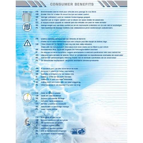 Siepa-Goodyear - Chaine neige QO2 N°6 BIS pour taille: 195/55x15, à Croisillons / Tendeur Automatique chic