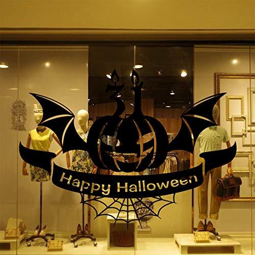 Ocamo Halloween Removable Halloween Pumpkin Pattern Wall Sticker Mural Decor Decal for Room Glass Window ()