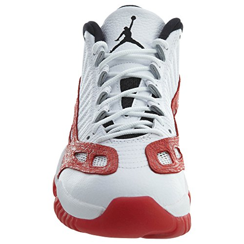 Jordan Nike Air Heren 4 Retro Basketbalschoen Wit, Gym Rood-zwart