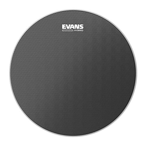 Evans Hybrid Grey Marching Snare Drum Head, 14 Inch