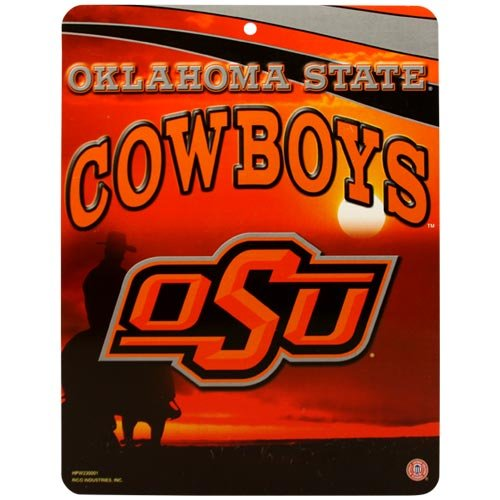 (Oklahoma State Cowboys 8.5'' x 11'' Plastic Wall Sign)