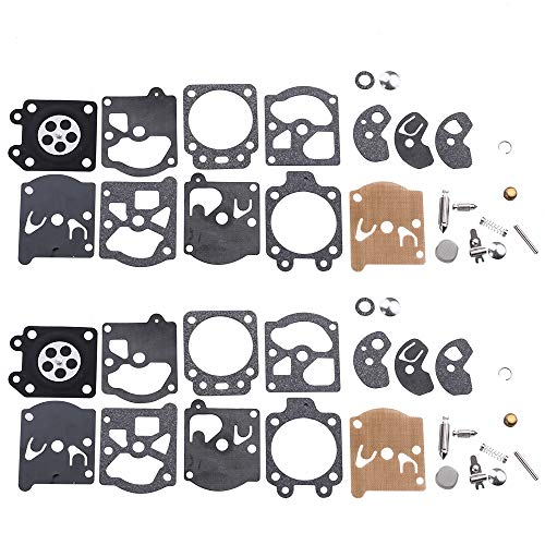 (Dalom Pack of 2 K10-WAT Carburetor Repair Kit for Walbro Carb Poulan Craftsman Chainsaw Trimmer Weedeater Leaf Blower)