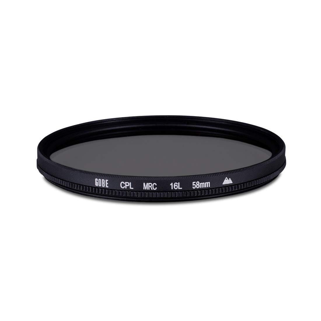 Gobe - Filtro para Objetivo de Polarizado Circular (CPL) 58 mm (2Peak)