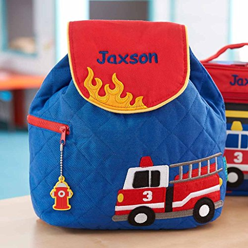 Personalized Fire Truck Embroidered Backpack -